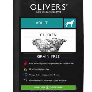 OLIVERS ADULT CHICKEN GRAIN FREE, MEDIUM - 12 kg