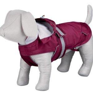 Trixie Iseo Hundefrakke - Med Aftagelig Hætte - bordeaux - Flere Størrelser