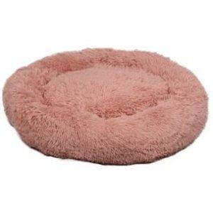Flamingo Donut Fluffy Hundeseng - Old Pink- Ø70cm