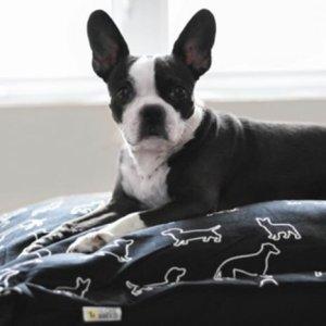 BOB Cloud Pillow Black Doggies
