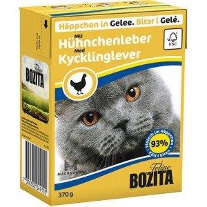 Bozita Katte Vådfoder - Med Kyllinglever Bidder i Gele- 370g - Tetra