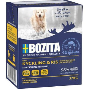 Bozita Naturals - Med Kylling & Ris i Gele - 370g - Tetra