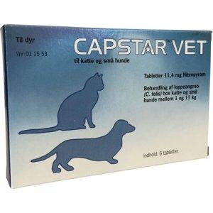 Capstar Vet Hund og Kat - Til behandling af loppeangreb - 1-11kg - 6 Tabletter