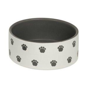 Nobby Hundeskål i Keramik Med Poteaftryk, 0.55L - - - - -