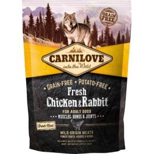 Carnilove Adult Chicken & Rabbit smagsprøve, 100g