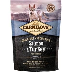 Carnilove Puppy Salmon & Turkey smagsprøve, 100g