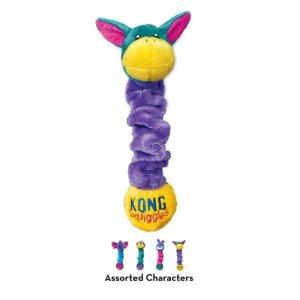 Kong Squiggles Hundelegetøj - Med Ekstra Strækvidde - Flere størrelser - Dobbelt Pivelyd