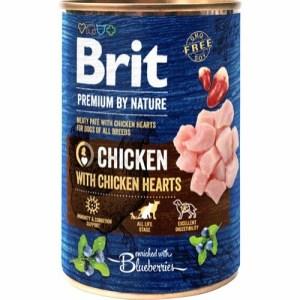 Brit Premium By Nature dåsemad Chicken w/Hearts, 400g
