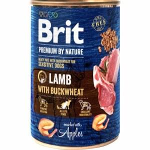 Brit Premium By Nature dåsemad Lamb w/buckwheat, 400g
