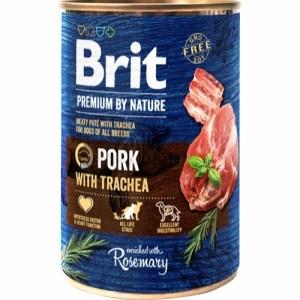 Brit Premium By Nature dåsemad Pork w/trachea, 400g