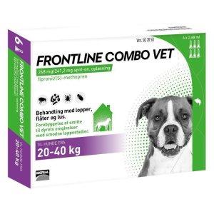 Frontline Combo - Hund 20-40 kg - 6 Pipetter
