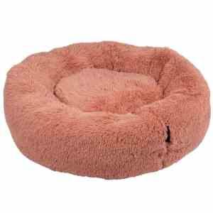 District 70 Fuzz Fluffy Donut Hundeseng - Old Pink