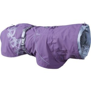 Hurtta regnjakke Drizzle Coat currant lilla 25cm