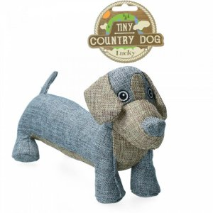 Country Dog Tiny Lucky Hundelegetøjs Bamse - Genbrugsplast - 30cm