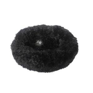 Fluffy Donut seng Sort - Small