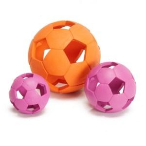 Gummi bold med huller til hund-Pink-Ø:11 cm