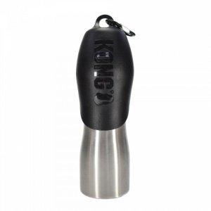 Kong H2O Stål Vandflaske - 740ml - Sort