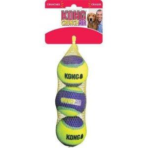 Kong Hundelegetøjs Crunchair Bolde - 3stk - Small - Ø5cm