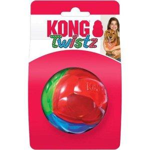 Kong Hundelegetøjs Twistz Bold - Ø6,5cm - Medium