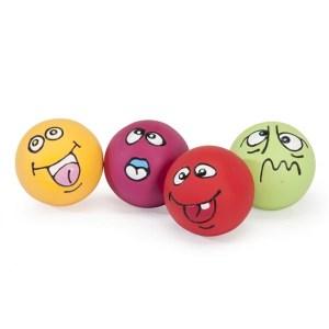 Latex hundebold med udtryk-Rød