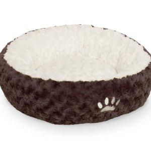 Nobby Neiku Donut Hundeseng - Ø45cm - Brun & Hvid
