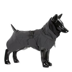 Reflekternde hundevinter jakke sort-Ryg 55 cm