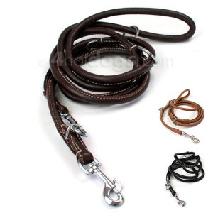 WALKER rund dressurline i læder-Cognac-Ø: 8 mm