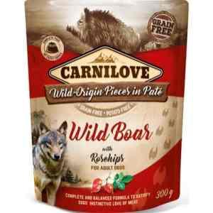 Carnilove Pouch Pate Wild Boar with Rosechips - kornfri, 300 g
