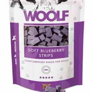Woolf Hunde Snack Godbidder - Med Bløde Blåbær Strimler og Kylling - 100g