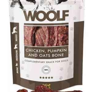Woolf Hunde Snack Godbidder - Med Kylling, Græskar og Havre Bone - 100g - 82% Kød