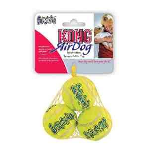 KONG AirDog Squeaker Tennisbolde 3 stk - Small