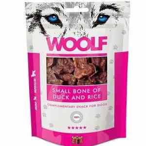 Woolf Hunde Snack Godbidder Små Ben - Med And & Ris - 100g - 88%