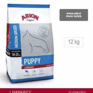 ARION ORIGINAL Puppy Medium Breed, Lam & ris, 12 kg - incl gratis levering og 2 slags godbidder