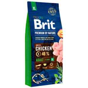 Brit Premium by Nature tørfoder - Adult XL - Kylling