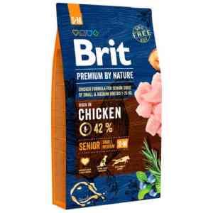 Brit Premium by Nature tørfoder - Senior small/medium - Kylling