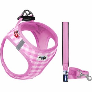 Curli Puppy Vest Sele, Air-Mesh med line, Pink, XS