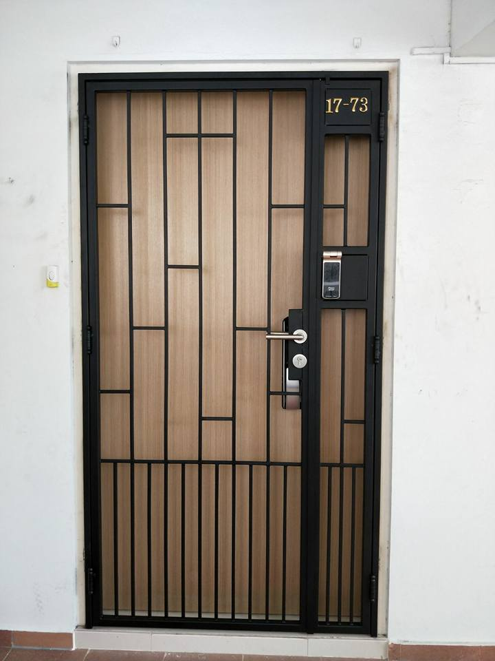Call 96177025 to buy Simple Line HDB Gate and Fire rated HDB door Singapore sales