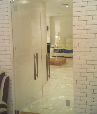 Double Leaf Glass Door
