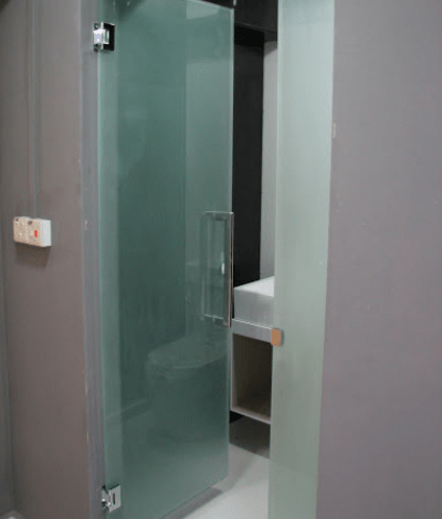 Frosted Glass Swing Door Clear
