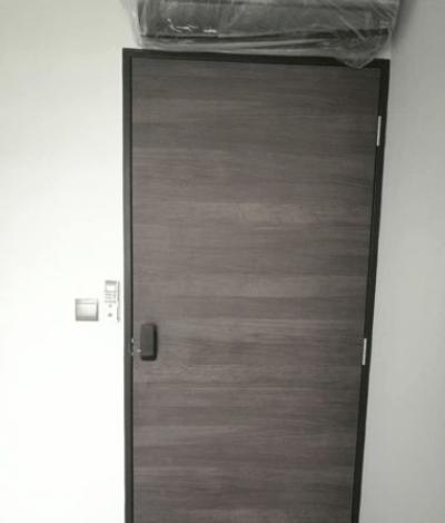 Black Oak Designer HDB Bedroom Door