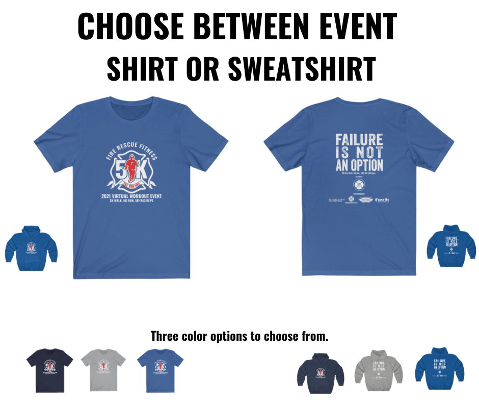 FRF 5K entrance shirt and sweat