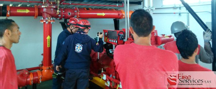 sistema de bombeo de espuma contra incendio
