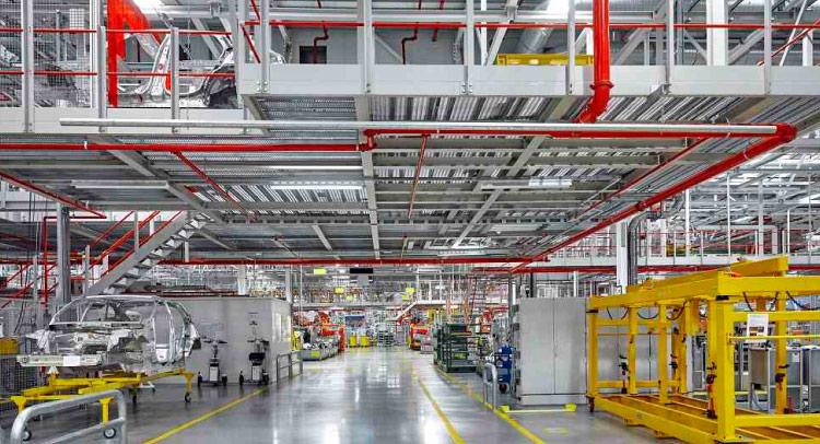 Sistema contra incendios en plantas de producción
