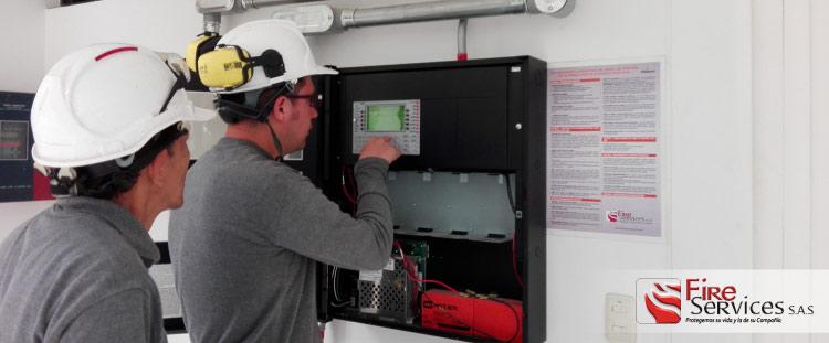 Panles de control de alarma contra incendio