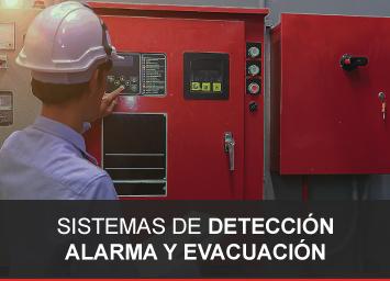 Sistemas de detección de alarma y evacuación contra incendio