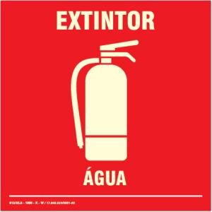 Placa de Sinalização – Extintor de Água