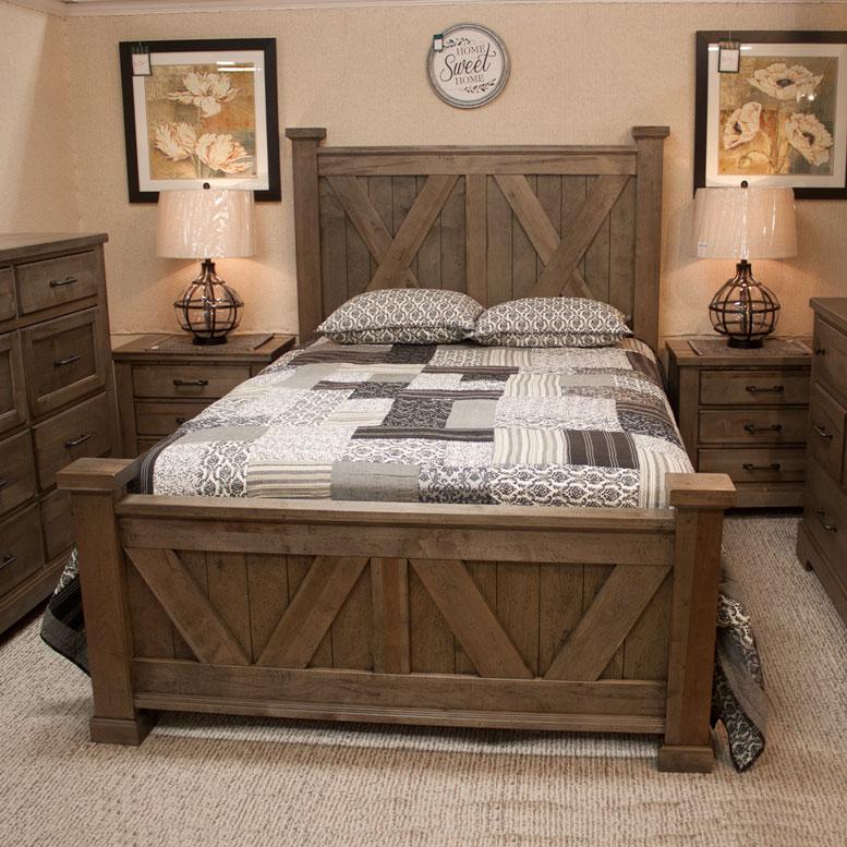 rustic bedroom set with fireside furniture of pompton plains nj