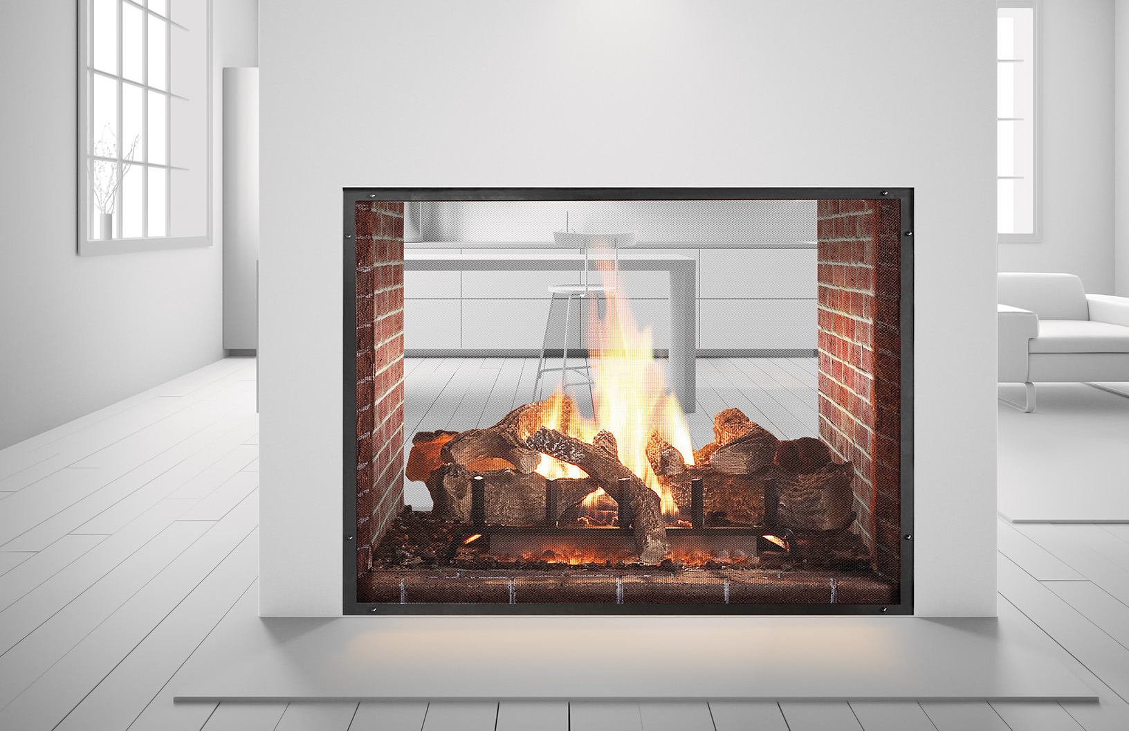 Heat Amp Glo Escape See Through Gas Fireplace Fireside