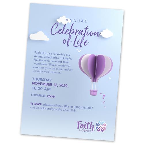 Hospice Celebration of Life Invitations
