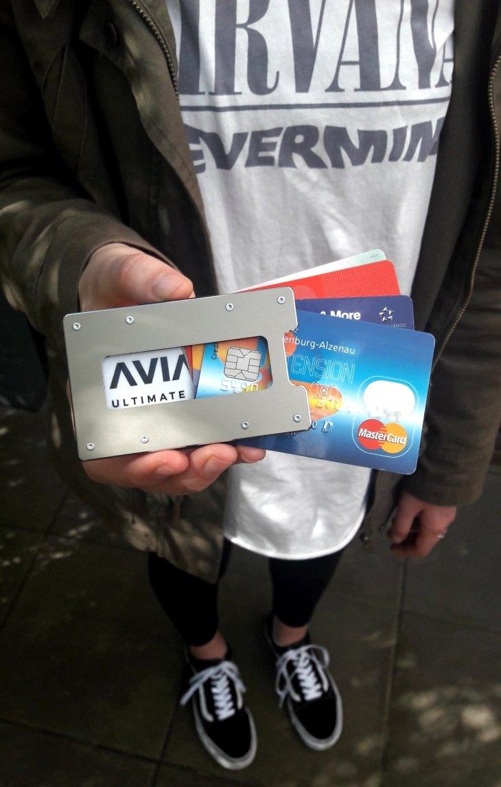 Aviator Wallet Gunmetal, Geldbörse, Slim Wallet, Geldbeutel, RFID